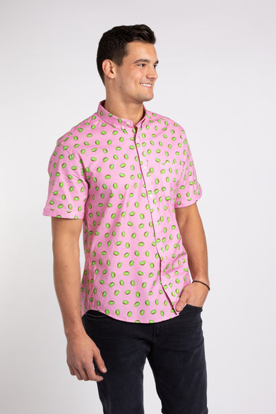 Kiwi SS Button Down - Pink