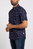 Paper Planes SS Button Down - Navy