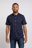 Space Cadet SS Button Down - Navy