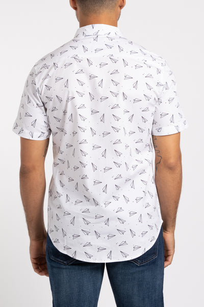 Paper Planes SS Button Down - White