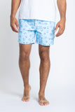 Ice Cube Swim Trunks - White