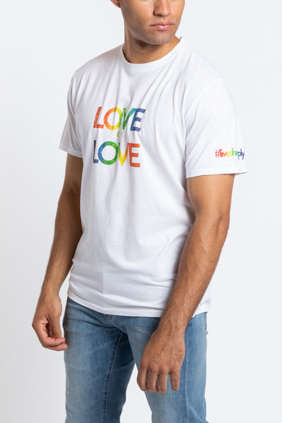 Love is Love Crew Neck - White