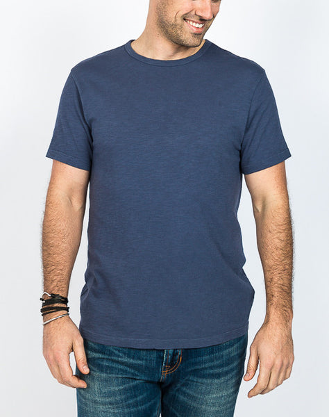 Jacob Crew Neck - Navy - Side View