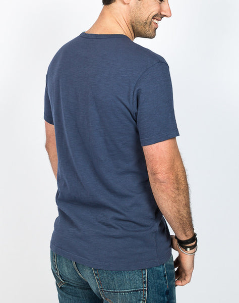 Jacob Crew Neck - Navy - Back View