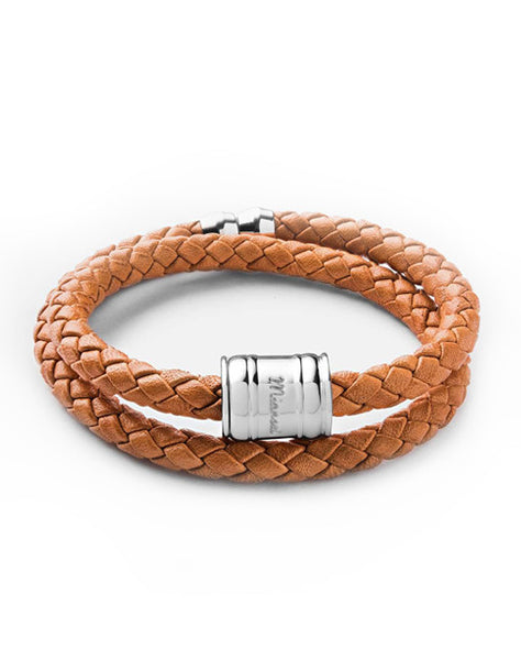 Tan Leather Bolo Bracelet