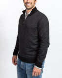 Sullivan Pique 1/4 Zip Sweater - Black - Right Side View