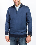 Sullivan Pique 1/4 Zip Sweater - Navy - Front View