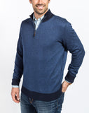 Sullivan Pique 1/4 Zip Sweater - Navy - Right Side View