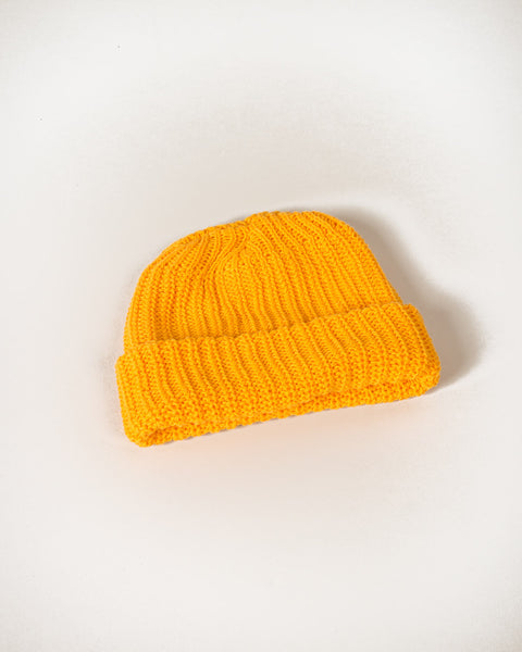 Cotton Knit Beanie - Goldenrod