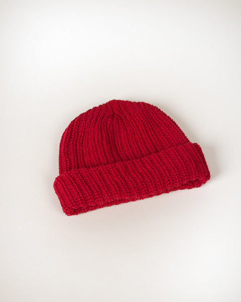 Cotton Knit Beanie - Signal Red