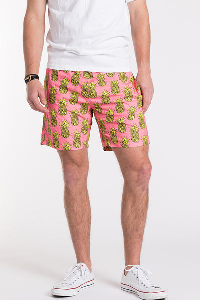 Pineapple Swim Trunks - Pink