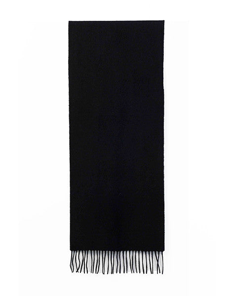 Benjamin Woven Scarf - Black cashmere & wool scarf
