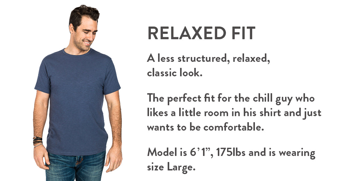 Relaxed fit chart