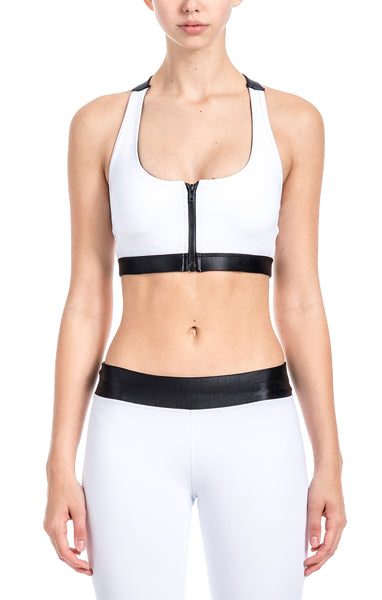Clara Zipped Sports Bra - Sports Bra Top