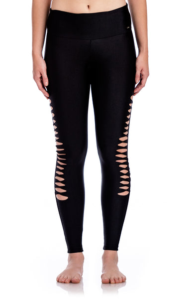 Ripped Effect Legging - Workout Bottoms