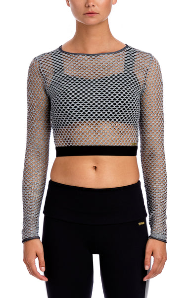 Luiza Perforated Dolman - Workout Tops