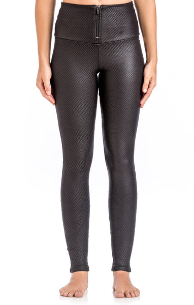 High Waisted Zipper Legging - Workout Bottoms