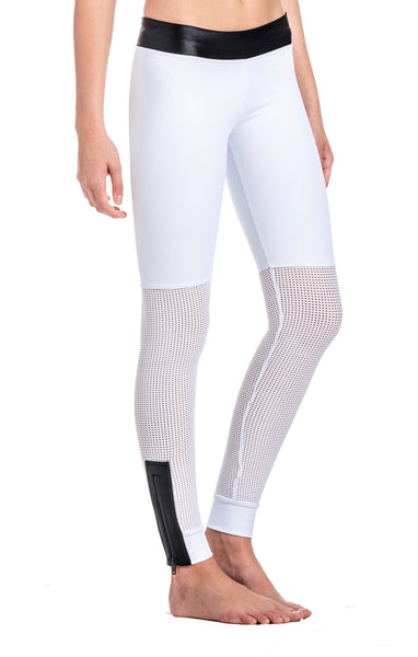 Emily Zipped Mesh Legging - Workout Bottoms