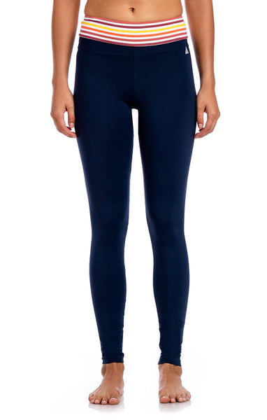 Basic Waistband Striped Legging - Workout Bottoms