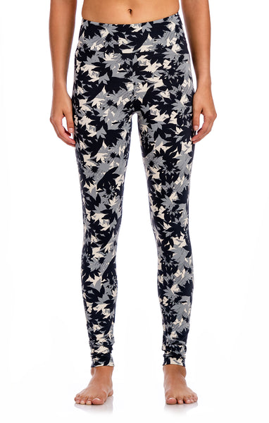 Basic Waistband Printed Legging - Workout Bottoms