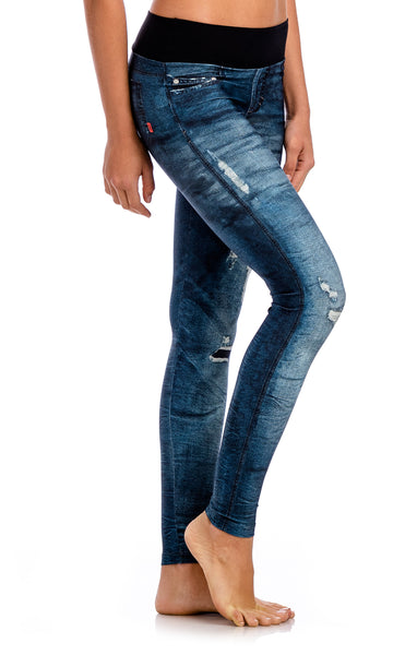 Riff Urban Power Denim Legging - Workout Bottoms