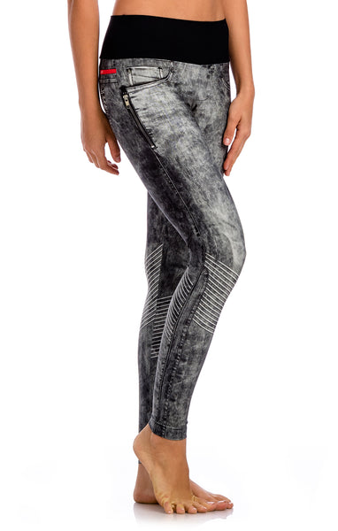 Stone Urban Power Denim Legging - Workout Bottoms