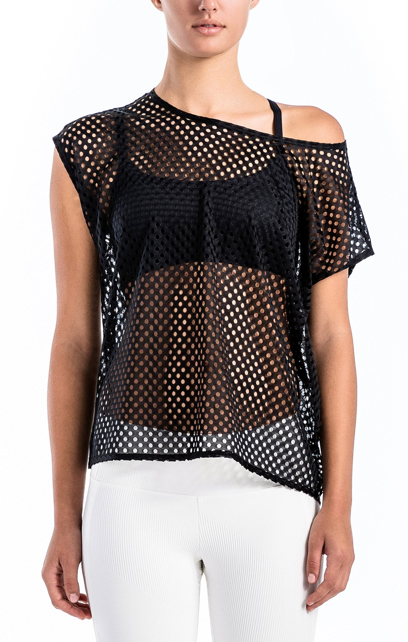 Natalia Perforated Dolman - Workout Tops
