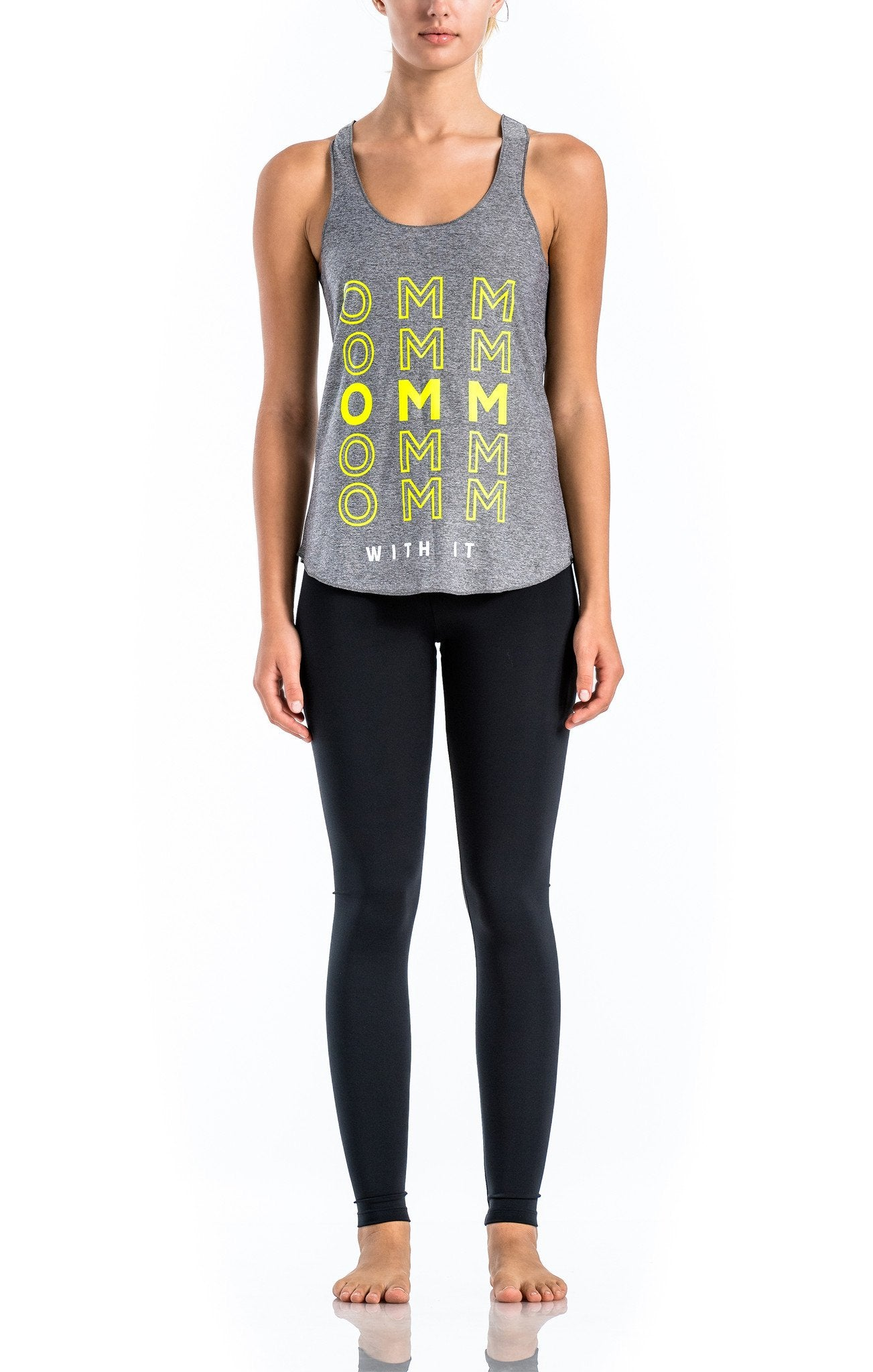 SIENNA Relaxed Graphic Racer Back - Workout Tops