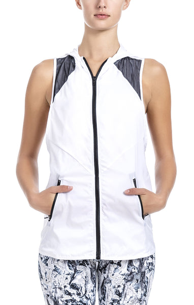 Lorena Hooded Vest - Workout Tops