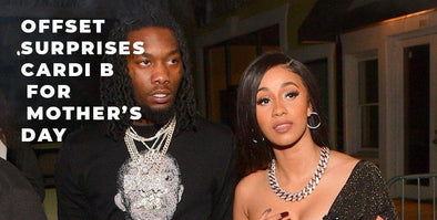 Matching Ice? Offset Surprises Cardi B For Mother's Day!