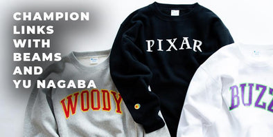 "Champion x BEAMS x Yu Nagaba For ""Toy Story"" Collection"