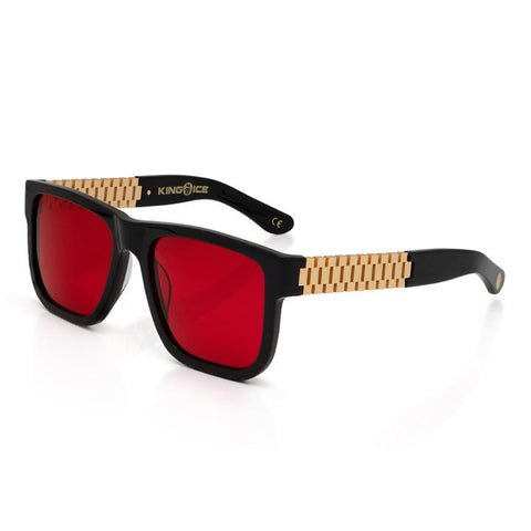 Gold Link Shades with Glossy Black Frame