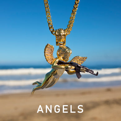 Angel Pendant Necklaces