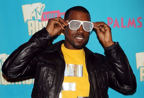 Kanye West MTV Awards in White Aviator Shades