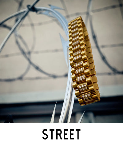 Street Yellow Gold Bracelets