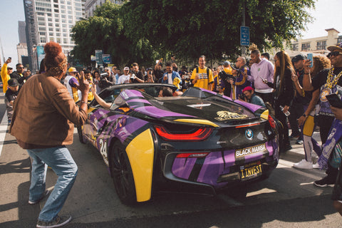 Custom Kobe Bryant BMW i8 Wrapped vehicle