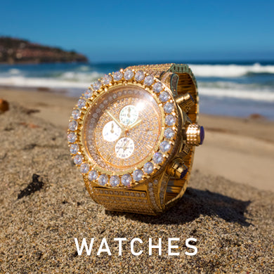 Mens Iced Out Diamond Watches