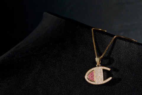 VVS Diamond Champion Logo Pendant by King Ice