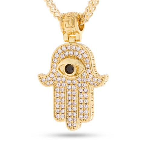 14k Gold Hamsa Necklace