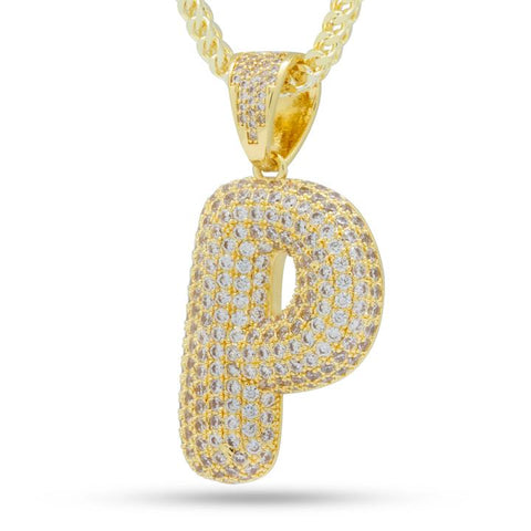 "Iced Out Bubble Letter ""P"""
