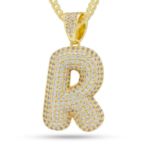 "Iced Out Bubble Letter ""R"""