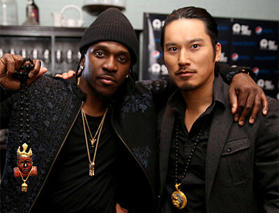 Pusha T with King Ice co-owner Cuong Diep.