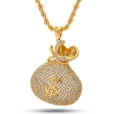 14K Gold Money Bag Necklace - Designed by Snoop Dogg x King Ice NKX11473