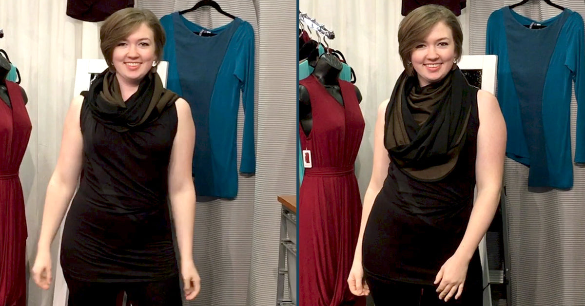 How to wear my Beryl Infinity Shawl as a GREAT scarf for fashion or winter wear