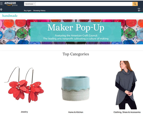 My Exciting News: I've Been Selected for the ACC/Amazon Maker Pop-Up Shop