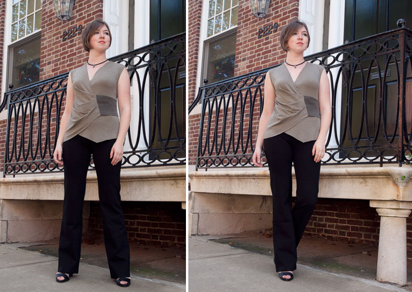 6a8975079f467 Can You Really Wear Yoga Pants to Work? - Erin Draper
