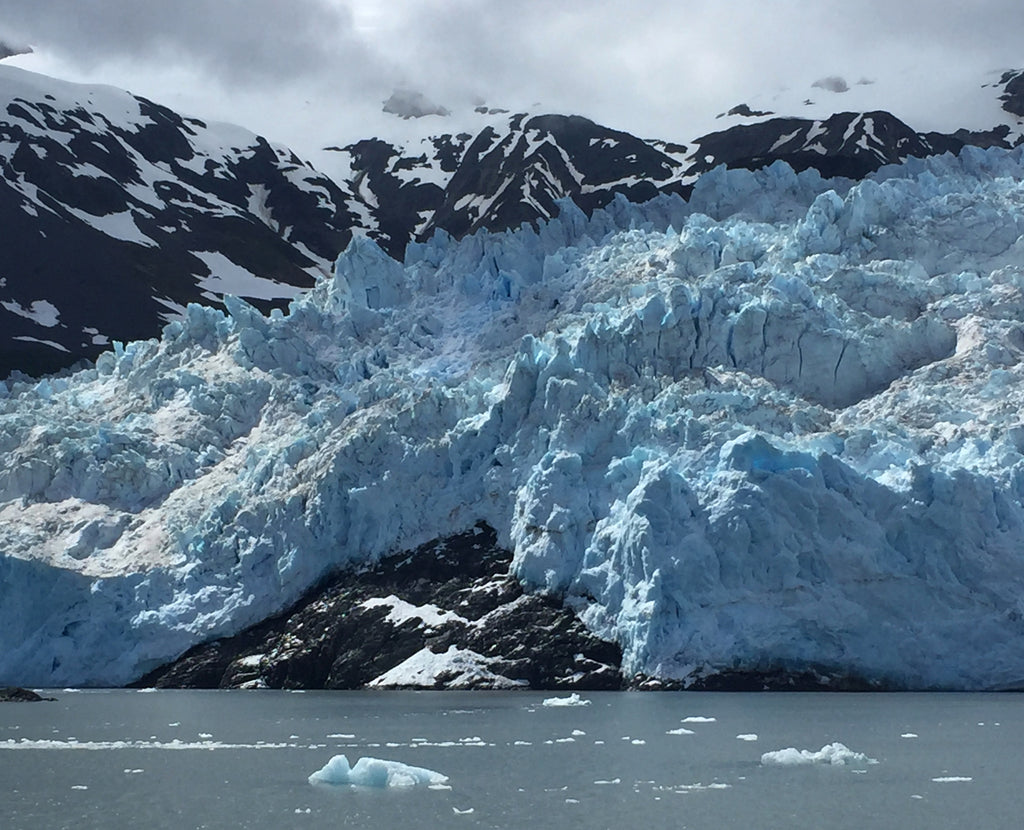 Close up to the Aialik Glacier at Kenai Fjords National Park
