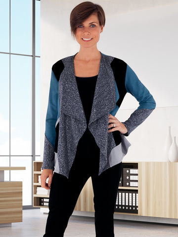 Eislen Blue Eco-Friendly Sweater Jacket from Erin Draper