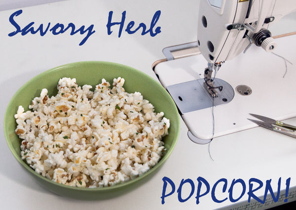 Savory Popcorn with Fresh Herbs Healthy Gluten Free Snack Recipe