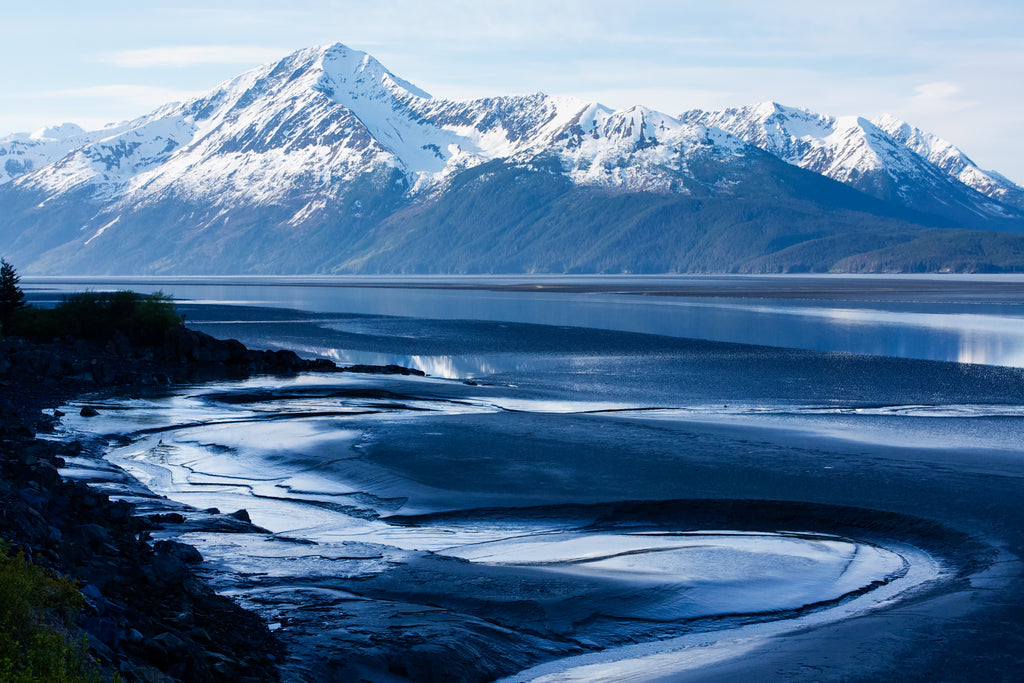 Beautiful Turnagain Arm on the way to Seward, Alaska